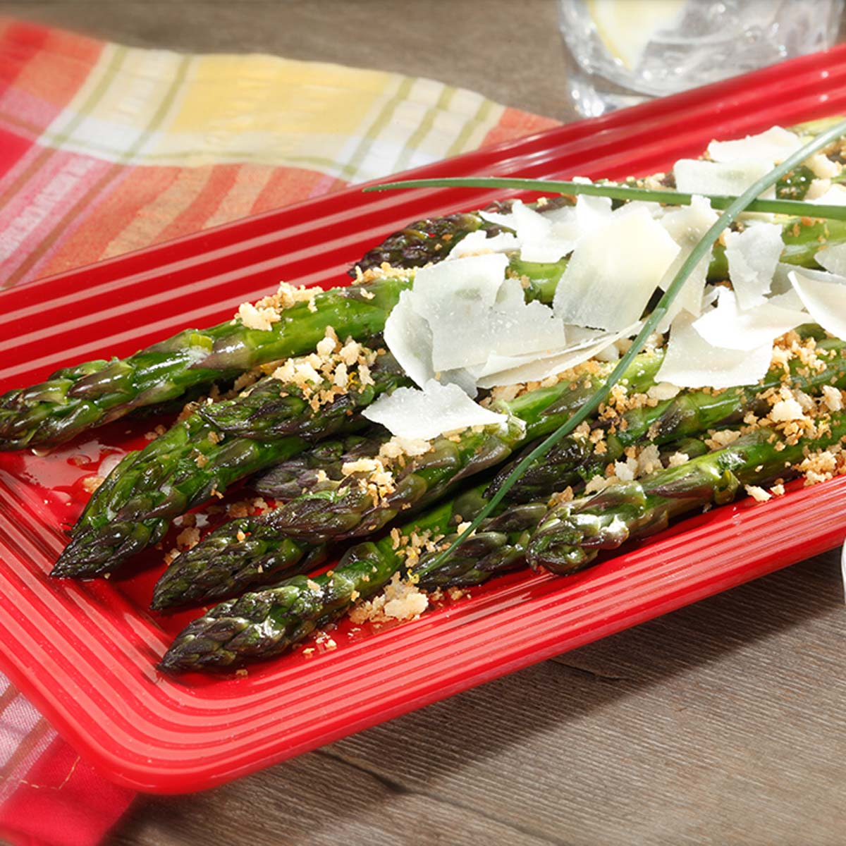 Barely-Cooked Asparagus With Lemon-Mustard Vinaigrette Recipe ...